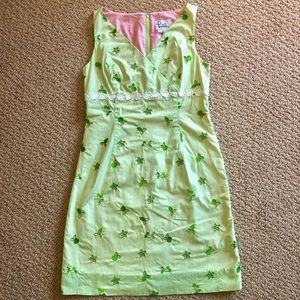 Lilly Pulitzer green and pink dress, size 04